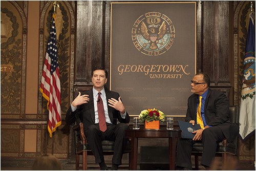 In a February 12, 2015 speech at Georgetown University, FBI Director James B. Comey called on the nation's law enforcement personnel and the citizens they serve to participate in a frank and open conversation about the disconnect that exists in places like New York City and Ferguson, Missouri—and communities across the country—between police agencies and many citizens, particularly in communities of color.