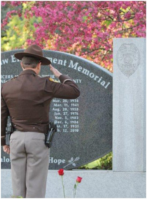 The Missoula Law Enforcement Memorial was unveiled on July 22, 2000. This memorial is a lasting tribute to the sacrifices made by Missoula fallen officers and their families.