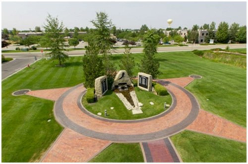 The Idaho Peace Officers' Memorial, located in Meridian, was dedicated on May 15, 1998. The memorial stands in a grassy field in front of the Idaho State Headquarters Building, eight miles from Boise.