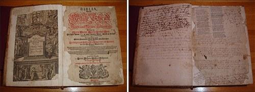1706 German Language Family Bible
