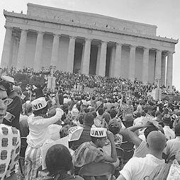 The March on Washington at the Lincoln Memorial in Washington, D.C. in August 1963.