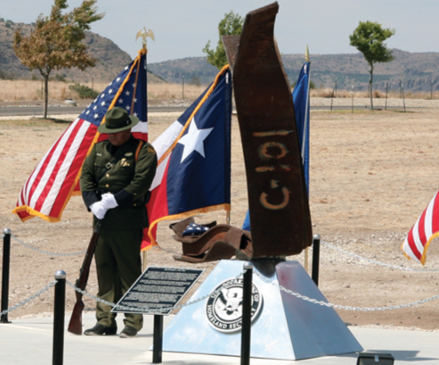On September 11, 2001, the Marfa, Texas Border Patrol Sector was conducting a groundbreaking ceremony for its new Alpine Station facility. The ceremony was halted when the report of the attacks on the East Coast was received, and all personnel were put on full alert. Ten years later, on September 11, 2011, the Alpine Border Patrol Station 9/11 Memorial was dedicated.