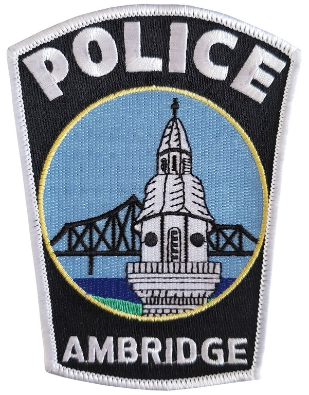 The shoulder patch of the Ambridge, Pennsylvania, Police Department.
