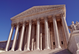 Angled View of Supreme Court Building