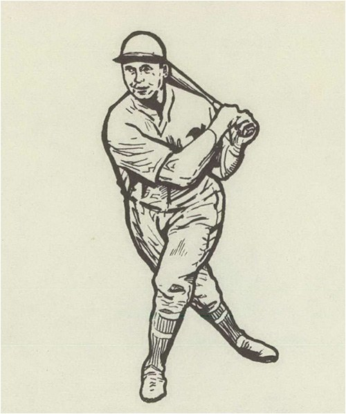 Sketch of Baseball Player Jimmy Foxx