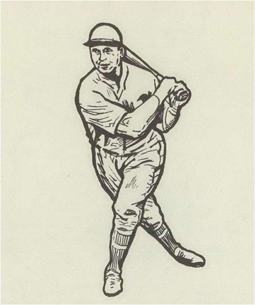 Sketch of Baseball Player Jimmy Foxx