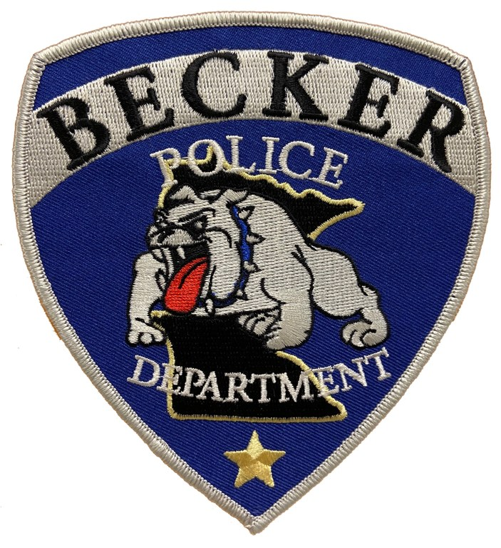 The shoulder patch of the Becker, Minnesota, Police Department.