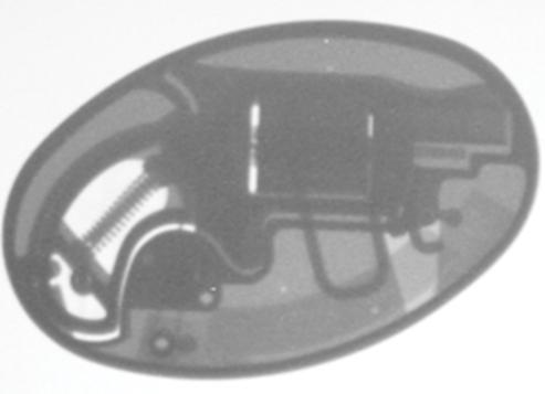 Belt Buckle Revolver X-Ray