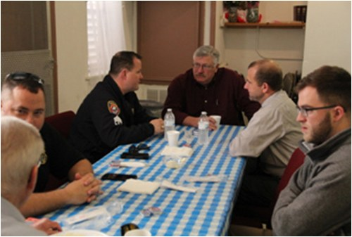 One program developed by Galveston Police Department is the Cops and Clergy Breakfast, where officers and local clergy members dine together while addressing community issues and seeking cooperative solutions.