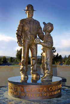 Rather than honoring fallen officers, this monument recognizes all peace officers past, present, and future who dedicate their professional lives to serving citizens and making communities safe.