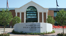 The memorial is dedicated to the department's only two officers killed in the line of duty.