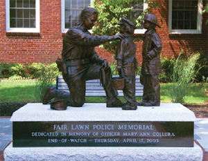 The Fair Lawn, New Jersey Police Department presents its memorial dedicated in honor and memory of Officer Mary Ann Collura, an 18-year veteran who made the ultimate sacrifice in the line of duty.