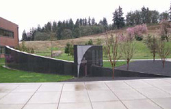 The Oregon Fallen Law Enforcement Officers Memorial sits on the grounds of the Oregon Public Safety Academy in Salem.