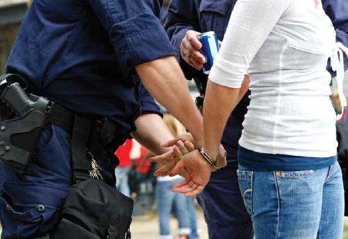 Juvenile Female Getting Handcuffed