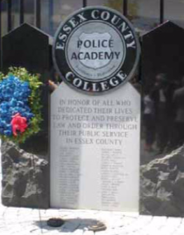 The Essex County College Police Academy, located in Cedar Grove, New Jersey, held a dedication ceremony for its recently constructed law enforcement officer memorial on June 7, 2010.