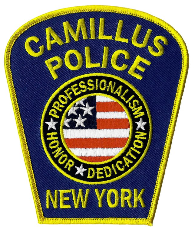 The shoulder patch of the Camillus, New York, Police Department.