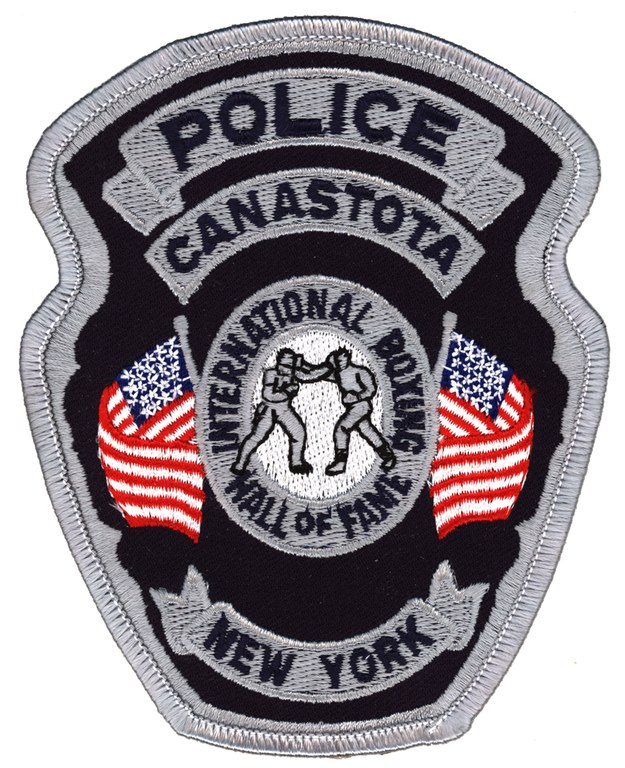 The police shoulder patch for the Canastota, New York, Police Department.
