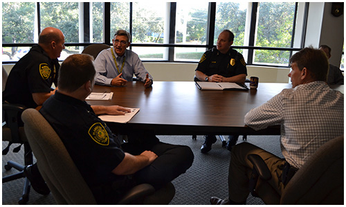 Chaplain Braswell Meeting with Law Enforcement and Community Members