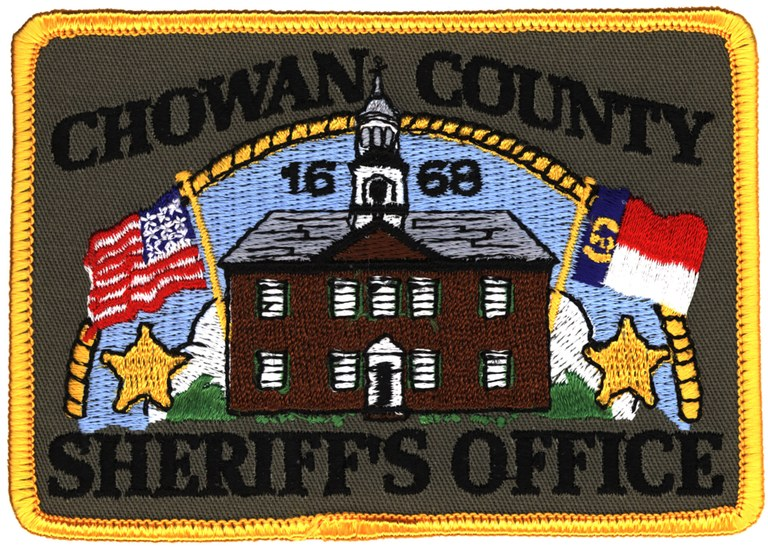 The shoulder patch of the Chowan County, North Carolina, Sheriff's Office.