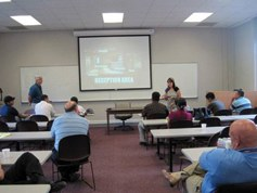Classroom training by PANTEX personnel on building security during a summer 2010 exchange program between West Texas A&M University and the San Miguel de Allende Police Department and city council.
