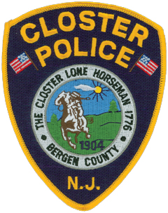 Closter, New Jersey, was settled in 1704 and was incorporated as a borough 200 years later. Its police department patch depicts a horseman. On November 20, 1776, a farmer witnessed 5,000 British troops landing at Closter Dock on the Hudson River and rode nine miles south to warn the Continental Army at Fort Lee, allowing for the Americans' successful retreat ahead of the British advance.