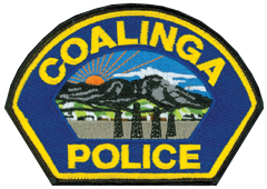 "Coalinga, California, was founded in 1888 as ""Coaling Station A"" for the Southern Pacific railroad. Its history is founded upon the oil derricks depicted on the patch of its police department. Since the late-19th century, the city has played a key role in California's oil production. Coalinga is located near California's South Coast Ranges, also depicted on the city's police patch."