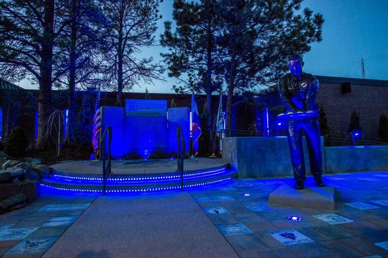 Colorado Law Enforcement Memorial at Night