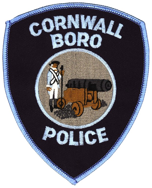 The shoulder patch of the Cornwall Borough, Pennsylvania, Police Department.