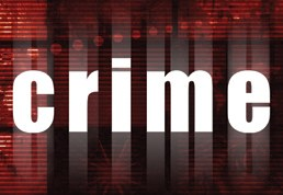"Graphic with the word ""crime"" in the center."