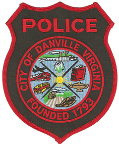 A depiction of the patch of the Danville, VA, Police Department.