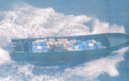 Drug boat seized on October 18, 2007 in the Eastern Pacific with 59 bales.