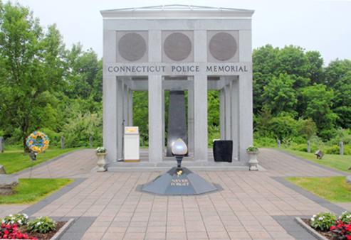 Depiction of the Connecticut Law Enforcement Memorial.