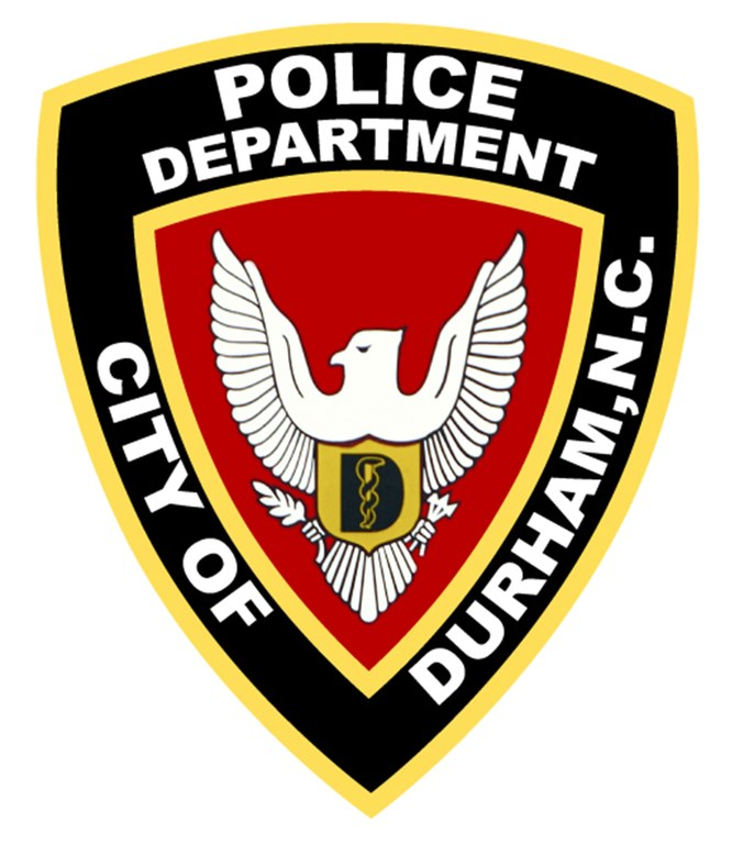A digital image of the police patch of the Durham, North Carolina, Police Department.