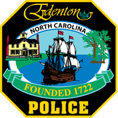 The patch of the Edenton, North Carolina, Police Department depicts the town's history. Founded in 1722, Edenton is the second-oldest incorporated town in the state. An 18th-century sailing vessel represents its history as an important shipping port during that period. Cypress trees represent an old legend in which 18th-century sailors deposited rum for luck before departing. The 1758 Cupola House, one of the oldest structures in Edenton, is on the National Register of Historic Places. The town logo contains a teapot for the 1774 Edenton Tea Party.