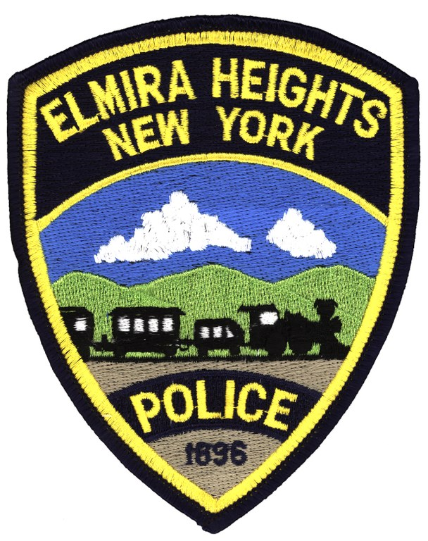 Scanned image of the Elmira Heights, New York, Police Department shoulder patch.