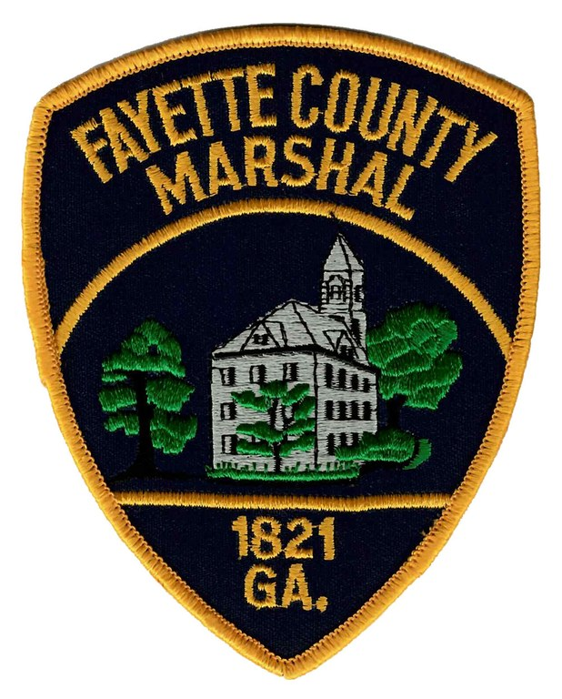 The shoulder patch of the Fayette County, Georgia, Marshal's Office.