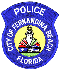 Depiction of the patch of the Fernandina Beach, FL, Police Department.