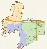 Figure 1: Common Patrol Areas Circled
