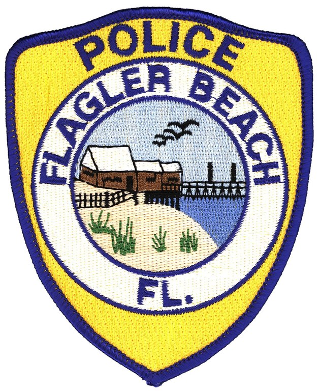 The police shoulder patch of the Flagler Beach, Florida, Police Department.