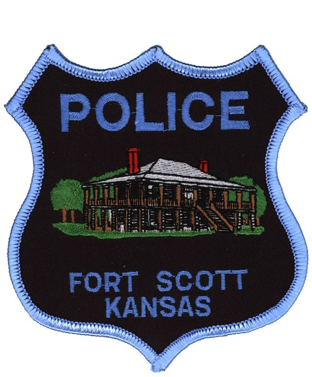The police patch for the Fort Scott, Kansas, Police Department.