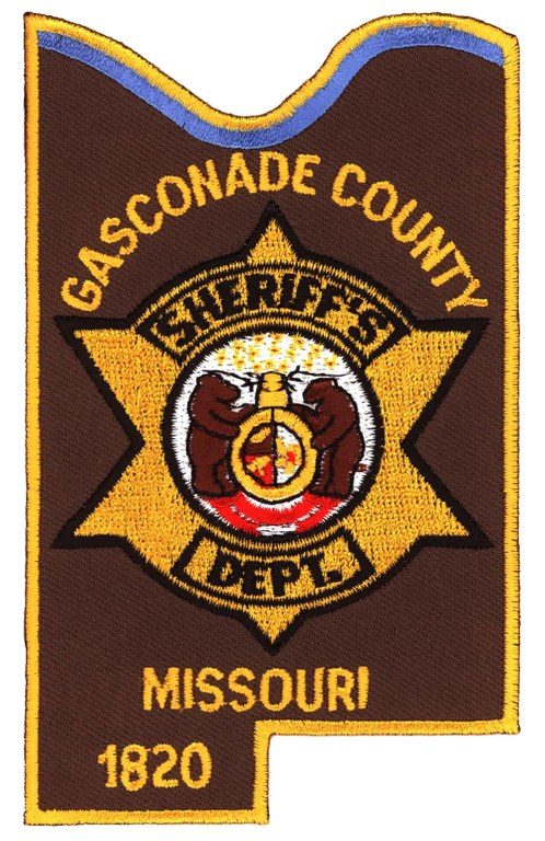 The shoulder patch of the Gasconade County, Missouri, Sheriff's Department.