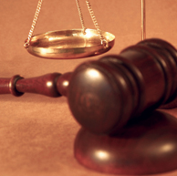 Gavel and Scales of Justice (Stock Image)
