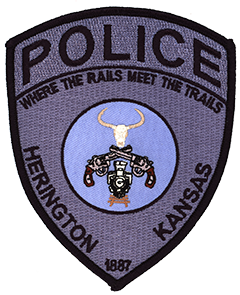 Depiction of the patch of the Herington, KS, Police Department.