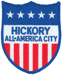"The Hickory, North Carolina, Police Department has two service patches worn on opposite sleeves of its uniform. The stars-and-stripes-influenced ""All-America City"" patch worn on the right uniform sleeve honors Hickory's three-time win of the National Civic League's prestigious All-America City Award in 1967, 1987, and 2007. The award was founded in 1949 to recognize cities in which citizens, businesses, nonprofit organizations, and government agencies work together to meet the community's needs and solve common problems."