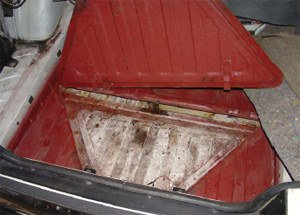 Hidden Compartment in Vehicle