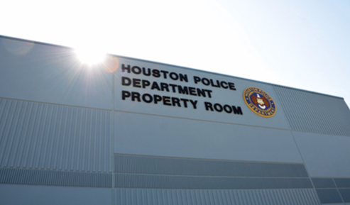 The new property storage room for the Houston Police Department.