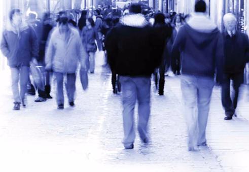 People on Sidewalk (Stock Image)