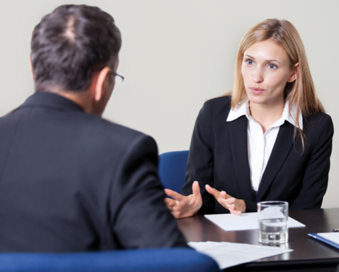 Stock image of an interview. © Thinkstock.com.