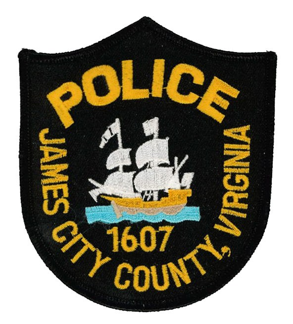 The shoulder patch of the James City County, Virginia, Police Department.