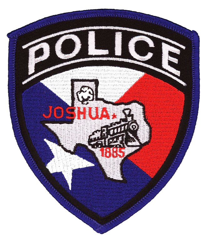 The shoulder patch of the Joshua, Texas, Police Department.